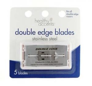 Healthy Accents Double Edge Stainless Steel Blades
