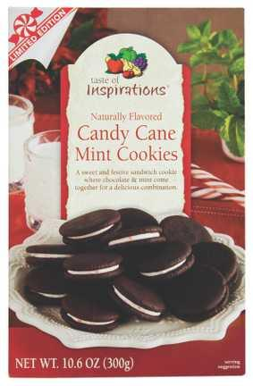 Taste of Inspirations Candy Cane Mint Sandwich Cookie