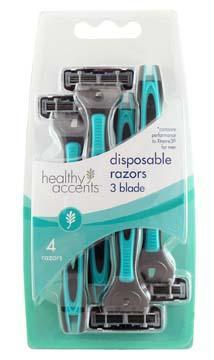 Healthy Accents 3-Blade Disposable Razor for Men