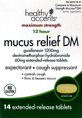 Healthy Accents Mucus Relief Dm Extended Release Tablets