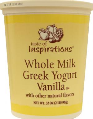 Taste Of Inspirations Whole Milk Greek Vanilla Yogurt