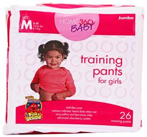 Home 360 Baby Medium Girl's Training Pants