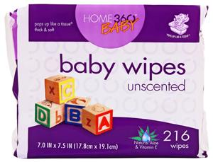 Home 360 Baby Unscented Baby Wipes Refill