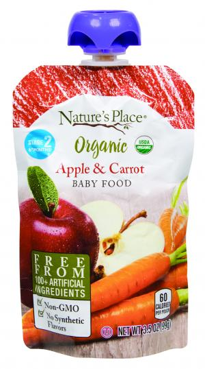 Nature's Place Organic Apple & Carrot Baby Food