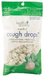 Healthy Accents Menthol Cough Drops