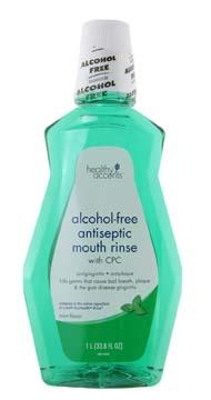 Healthy Accents Mint Antiseptic Alcohol Free Mouth Rinse