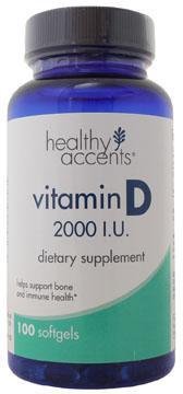 Healthy Accents Vitamin D 2000 I.U. Softgels