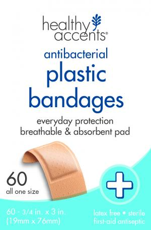 "Healthy Accents 3/4"" Plastic Bandages"