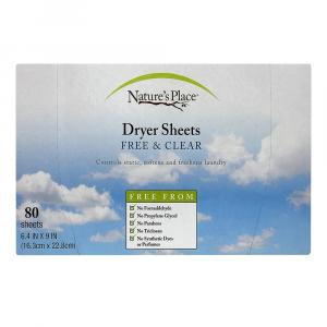 Natures Place Dryer Sheets Free & Clear