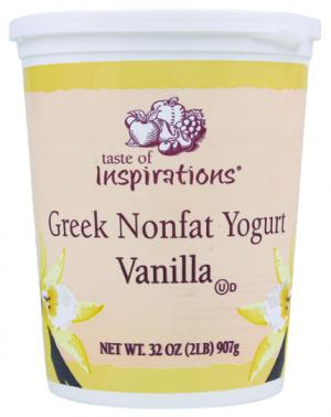 Taste Of Inspirations Greek Nonfat Vanilla Yogurt