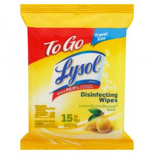 Lysol Brand Disinfecting Wipes To Go Lemon & Lime Blossom
