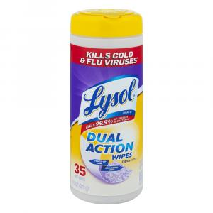 Lysol Dual Action Wipes Citrus Scent
