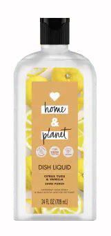 Love Home and Planet Citrus Yuzu & Vanilla Dish Liquid