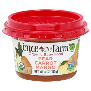 Once Upon A Farm Organic Pear Carrot Mango Bowl