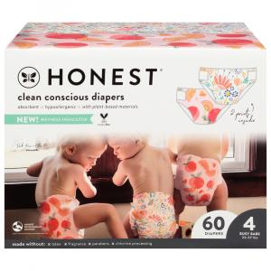 Honest Diapers Bunnies & Sliced Fruit Design Size 4
