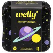 Welly Bravery Space Badges Assorted Fabric Bandages