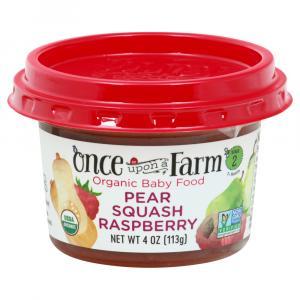 Once Upon A Farm Organic Pear Squash Raspberry Bowl