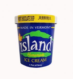 Island Homemade Mint Chocolate Chip Ice Cream