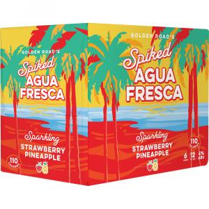 Golden Road's Spiked Agua Fresca Strawberry Pineapple