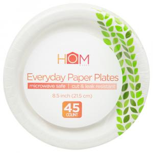 Homeworks Everyday Paper Plates 8.5 Inch Leaf