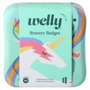 Welly Bravery Unicorn Badges Assorted Fabric Bandages