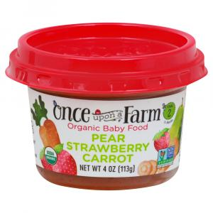 Once Upon A Farm Organic Pear Strawberry Carrot Bowl