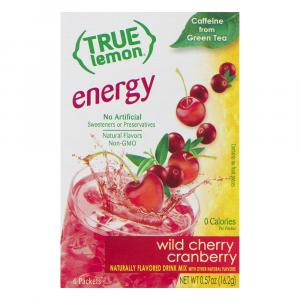 True Lemon Energy Cherry Cranberry Sticks