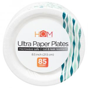 Homeworks Ultra Paper Plates 8.5 Inch Wave