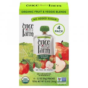 Once Upon A Farm Organic Green Kale & Apple Pouches