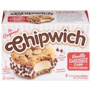 Chipwich Vanilla Chocolate Chip Ice Cream Sandwiches