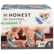 Honest Gentle + Absorbent Panda/Multicolored Giraffe Diapers