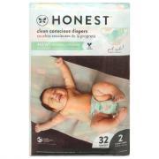 Honest Gentle + Absorbent Giraffe Diapers Size 2
