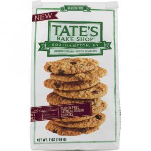 Tate's Gluten Free Oatmeal Raisin Cookies