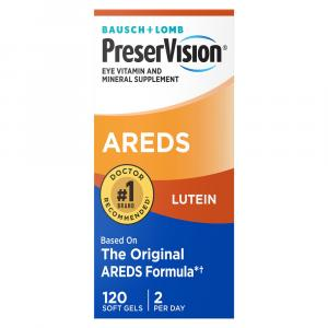 Bausch + Lomb PreserVision AREDS Lutein Soft Gels