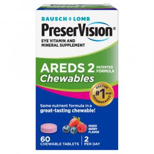Bausch & Lomb PreserVision AREDS 2 Chewable Berry Supplement