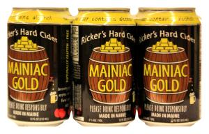 Ricker Mainiac Gold Hard Cider