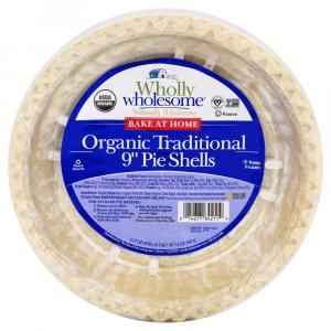 "Wholly Wholesome Organic Traditional 9"" Pie Shells"