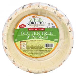 "Wholly Wholesome Gluten Free 9"" Pie Shell"