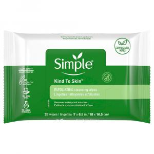 Simple Exfoliating Facial Wipes Kind To Skin