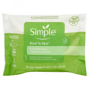 Simple Cleansing Facial Wipes Kind to Skin