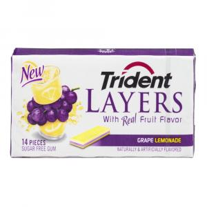Trident Layers Grape Lemonade Gum