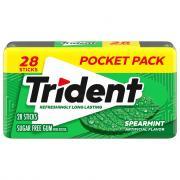 Trident Spearmint Sugar Free Gum