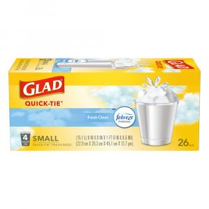 Glad Small Odor Shield Clean Scent Garbage Bags