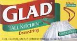 Glad 13-gallon Drawstring Tall Kitchen Trash Bags