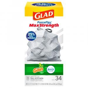 Glad ForceFlex 13-Gallon Gain Tall Kitchen