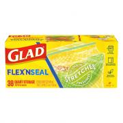 Glad Flex'n Seal Quart Storage Zipper Bags