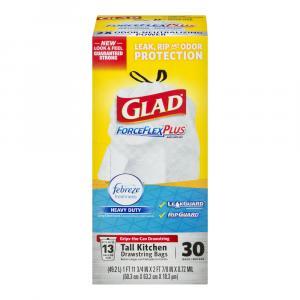Glad Forceflex + Febreze 13 Gallon Tall Kitchen Bags