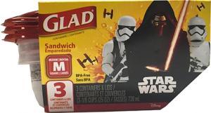 Gladware Sandwich Container Star Wars