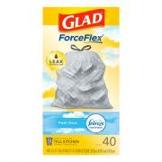 Glad Tall Kitchen 13-Gallon Drawstring Bags with OdorShield