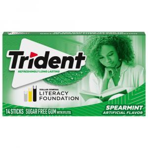Trident Spearmint Flavor Sugar Free Gum